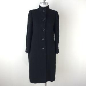 Vintage Larochelle WOmen S M Black Wool long coat